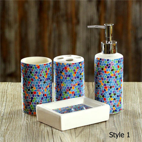 4 pcs/set bathroom accessories set Sanitary Combination wash tool  Hot Sale 2016