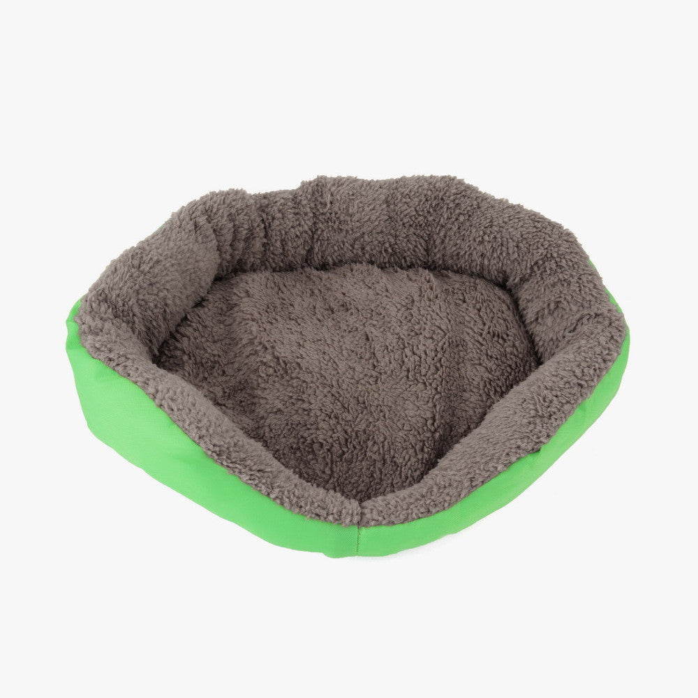 Newly Design Soft Fleece Warm Dog Bed House Plush Nest Mat Pad For Pets Puppy Cats