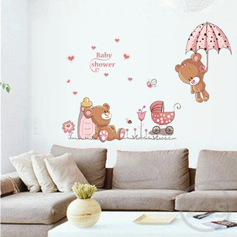 bear wall stickers children room