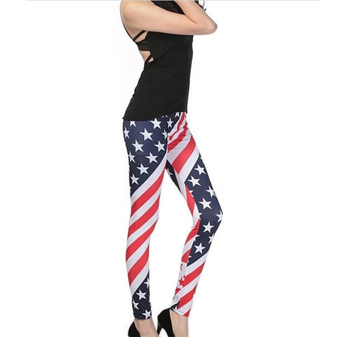 Funky Pants Stars Stripe Printed  legging