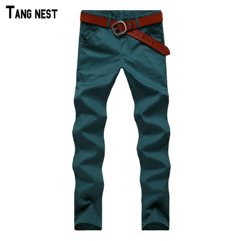 Fashion Korean Style Slim Fit Pants Male Casual Mid-Rise