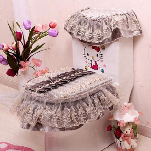 3PCS/set Vintage Toilet and Tank Cover