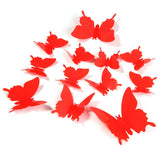 12 Pcs/Lot PVC 3D DIY Butterfly Wall Adhesive to Wall Decals Decoration 1387845