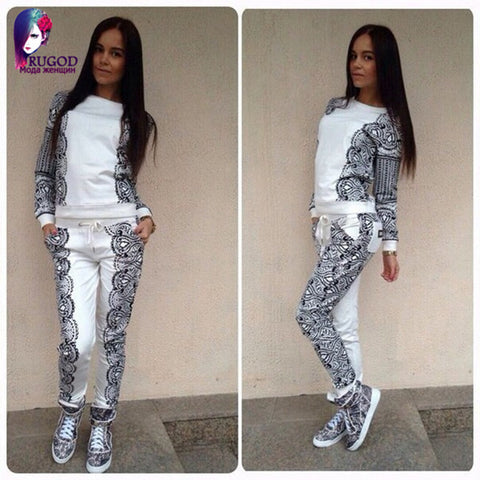 sweatshirt+pants one set woman' gray sports suit golden heart tracksuits ports costumes