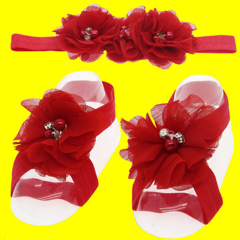 Chiffon flower hair accessories 14 Colors  And shoes