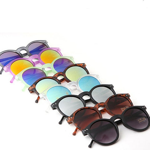 Mirror glasses men sunglasses women male female coating sunglass gold round YJ12