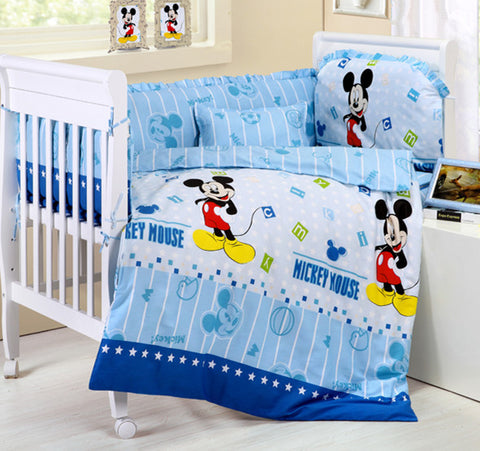 bedding set,cot bed set  Thick Fleece baby set (bumpers+matress+pillow+duvet)