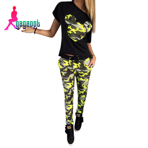 Camouflage Mickey 2 piece Jogging Outfit