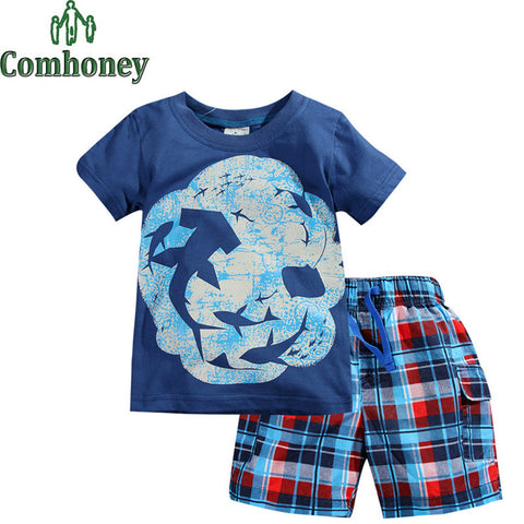2 PCS Short Sleeve Summer Sleeping Wear