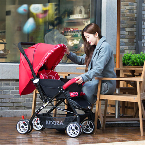 Baby Strollers,High Chair, with 2 Pneumatic Wheel +2 EVA Wheel pushchair