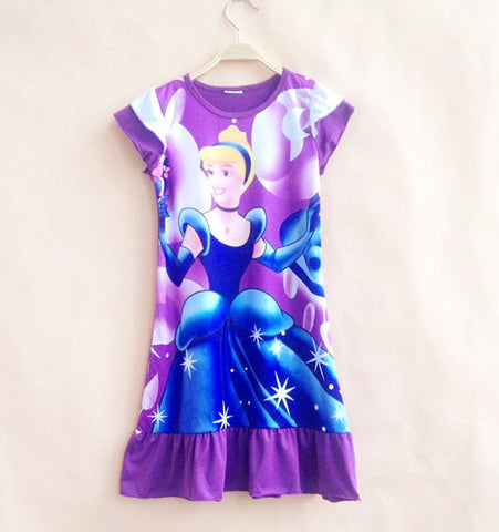 Anna Elsa rapunzel  princess dress casual teen dress age size 10 12 14years old