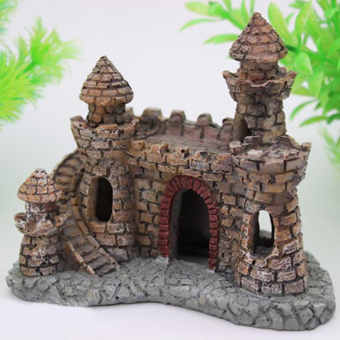Aquariums Decorations Castle Tower Ornaments