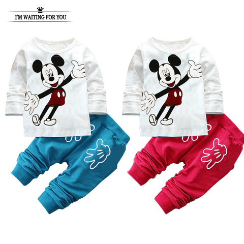 Minnie boy girl clothes cotton children suit