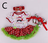 Baby Infant 3pcs Gift Romper Jumpersuit+Headband+Shoes