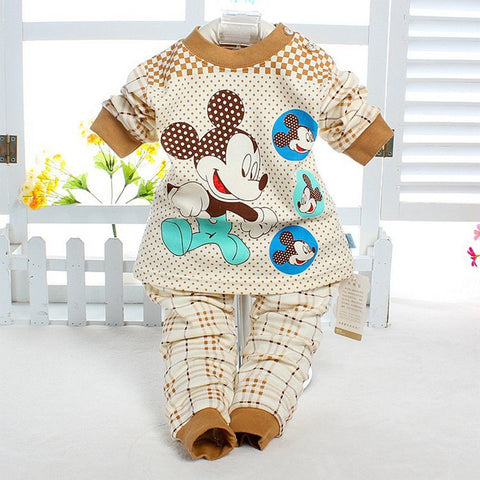 Minnie Newborn Character O-neck Baby Boy Girl Sets Clothes