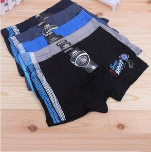 5 Pcs/Lot Bamboo Fiber Children Underwear Sports Boys Shorts Panties Kids Boxer Briefs