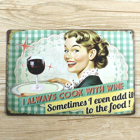 metal Tin sign  metal painting retro 20X30