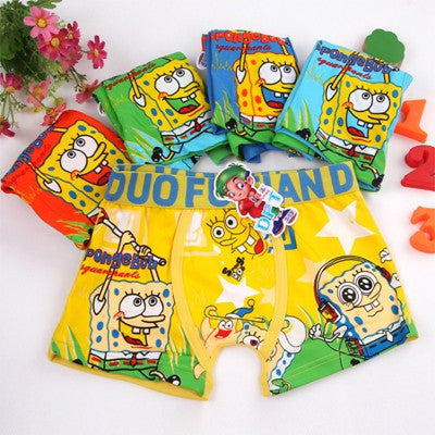 Boy Boxer  3-12T Kids 5pc/lot Cartoon Panties Boys Underwear bragas calcinhas infantis