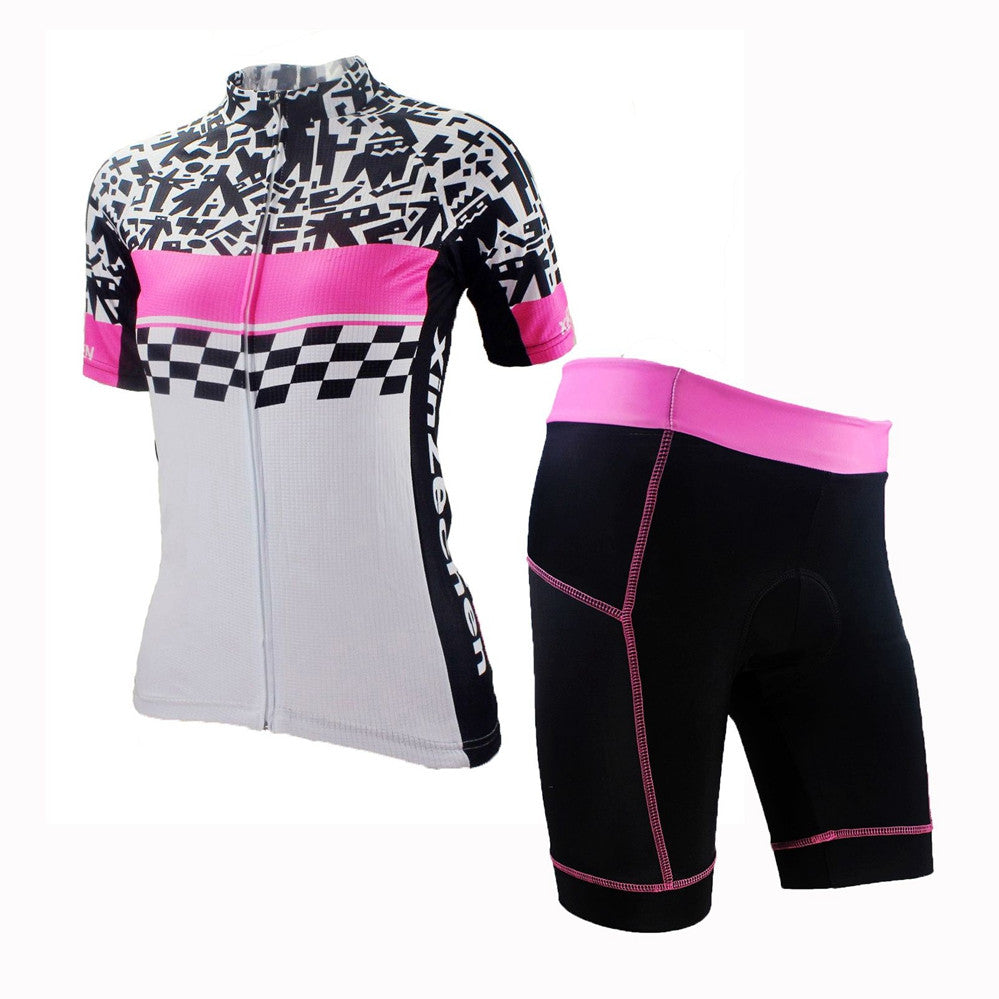 White Black Cycling Jersey Shorts Sets Bicycle Top Cycling Wear Shirts mtb Jacket CD6707