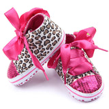 Floral Leopard Sequin Infant Soft Sole Baby First Walker Toddler Shoes