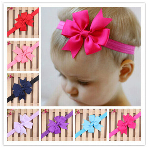 Bowknot Headbands Infant Hair Accessories Girls Bow Headband Toddler Hairbands XH1001