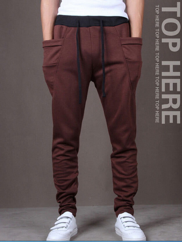 Men Harem Pants Sport Pants, Men'S Big Pocket Design Man Cargo Joggers M ~ XX