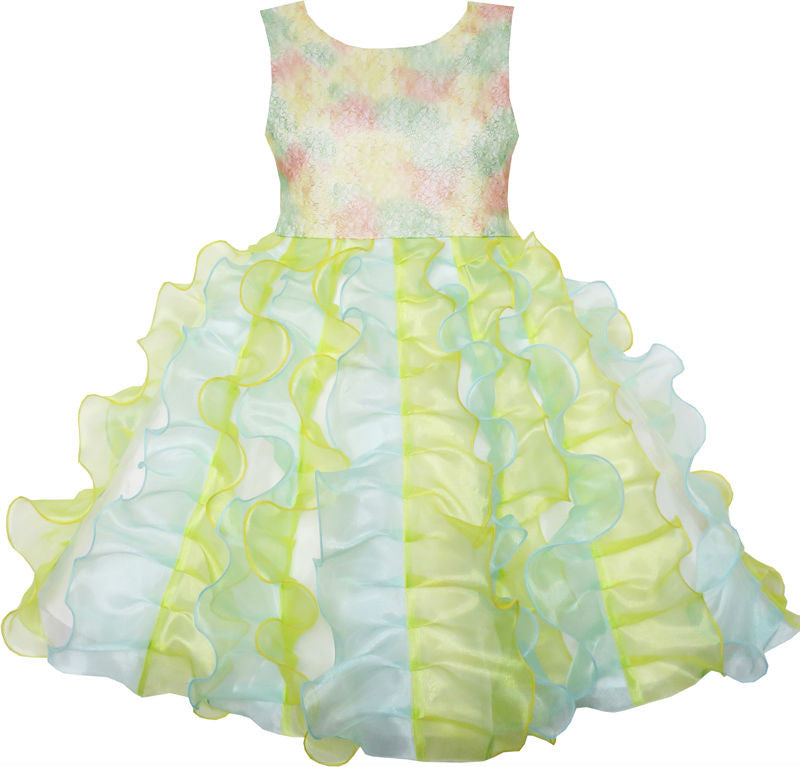 Girls Dress Pleated Tulle Princess Party Wedding Pageant 7-14