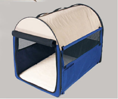 Car Foldable Pet Cage with Mosquito Net and Zipper Open Pet House 2 Colors