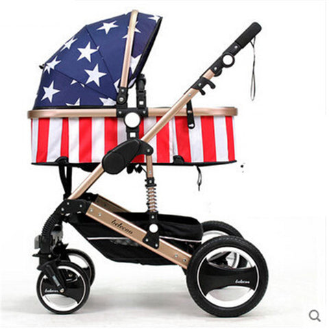 stroller folding two-way shock absorbers four wheel baby stroller pushchair chair