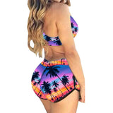 Teres 2016  Womens Bikini Set Push Up Swimwear High Waisted Bathing Suit Beach Wear  BIQUINI 15299#2