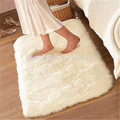 80cmx120cm Super Soft Solid Color White Carpet/Floor Rug/ Living room carpet/Area Rug