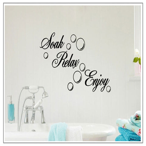 Rremovable Wall Sticker Black Bathroom Tile Sticker Bubble DIY Mural Wall Sticker