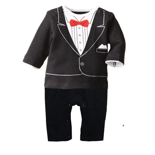 new Children's clothing   baby exclusive  boy gentleman of leisure Romper