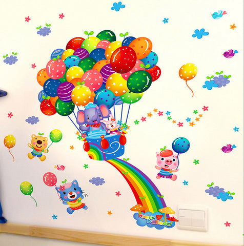 Wall Sticker Rainbow Kindergarten Stickers Home Decor WT133