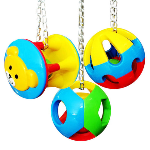 Pet Bird Bites Toy Parrot Chew Ball Swing Cage Hanging Cockatiel