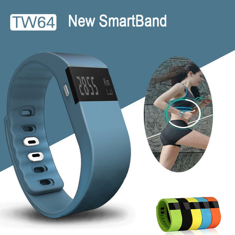 Bluetooth 4.0 Wristband Smart Pedometer Bracelet For iPhone Samsung Smartband TW64 PK Fitbit Mi band