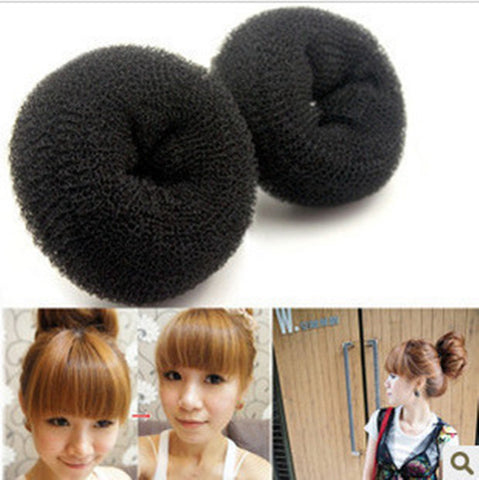 3 sizes(6CM,8CM,10CM) Hair Styling Donut Magic Sponge Bun Ring Maker Former Hair Disk F050