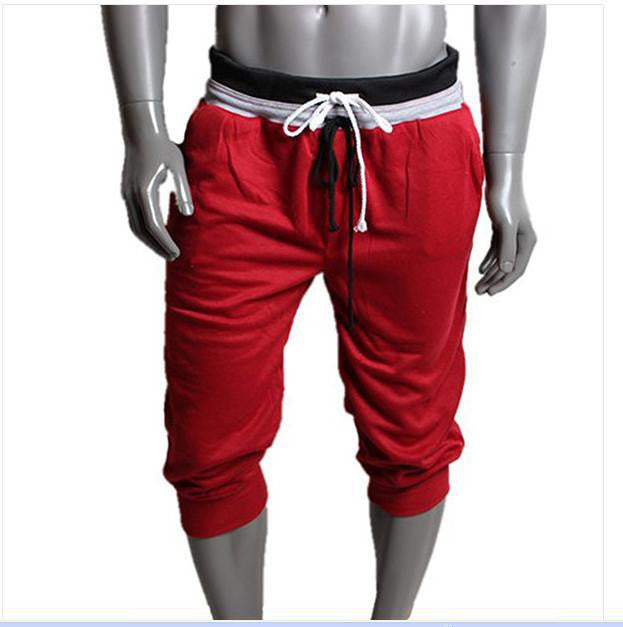 Loose short Mens Sports Cropped Short Pants Sweatpants Jogger Trousers  XXL