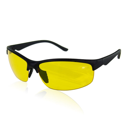 Resin HD High Definition Night Vision Glasses Driving Yellow Lens Classic Aviator UV400