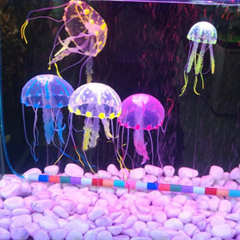5.5in  Aquarium Glowing Simulation Artificial Jellyfish Fish Tank Landscape Decoration