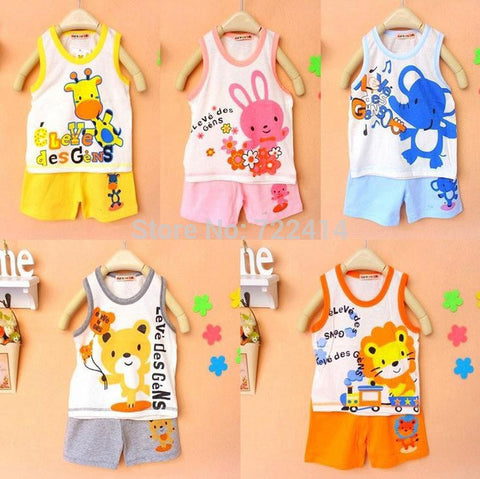 Baby clothing set, t shirt+pants undershirt Shorts,kids pajama set,Children t shirts 2014 new summer