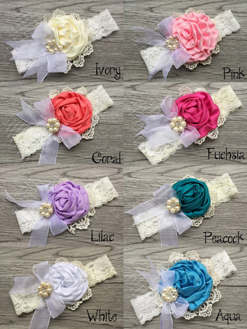 24pcs/lot Lace Bow Headband