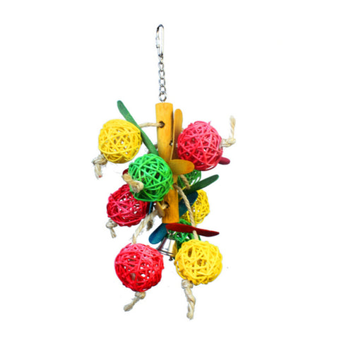 cockatiels Natural Anti-Wear Bite Ball Toys Pet Products Supplies YW25