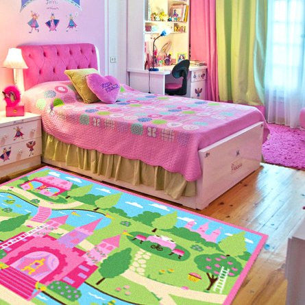 Cute Colorful Cartoon Kids Rug