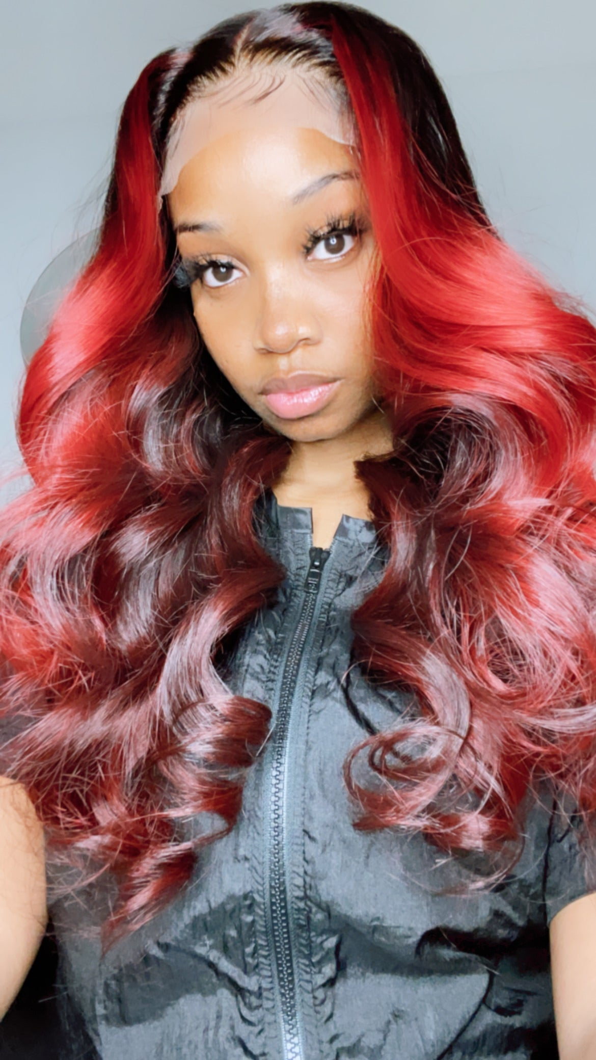 "22"" Red Hot Cambodian Natural Wave Unit - Kissable Curls"