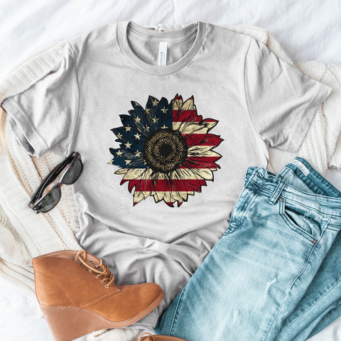 TR PAT American Flag Sunflower (design only) *A25