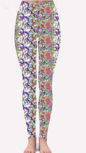 Christmas Lisa Frank Leggings