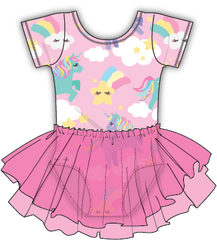 - PREORDER- Pink Unicorn w/SPARKLY PINK Tutu CAP SLEEVE
