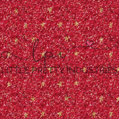 R22 R23 : HANDMADE Glitter RED STAR