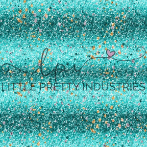 R22 R23 : HANDMADE Glitter TEAL OMBRE